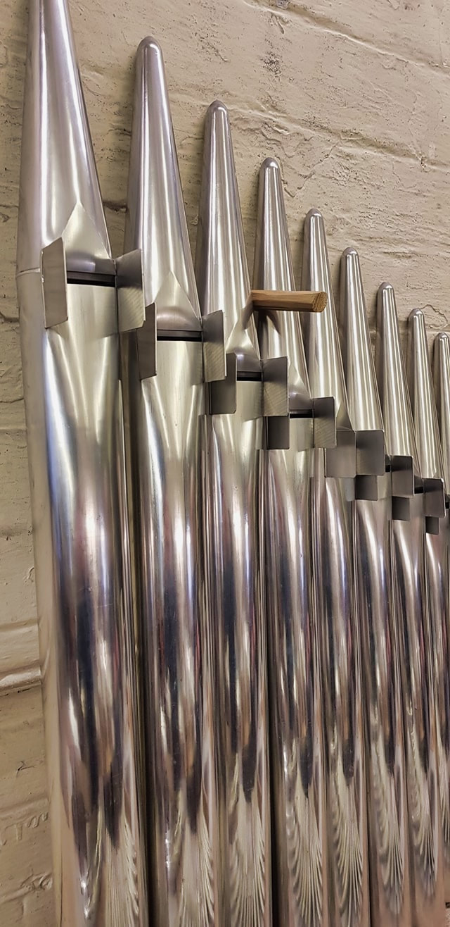 Shires organ pipes made for a Japanese organ builder