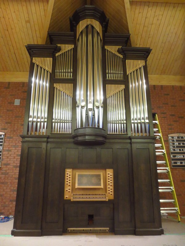 Shining cases pipes for new organ in Ontario