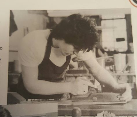Terry Shires on his first day working as a pipe maker in June, 1975